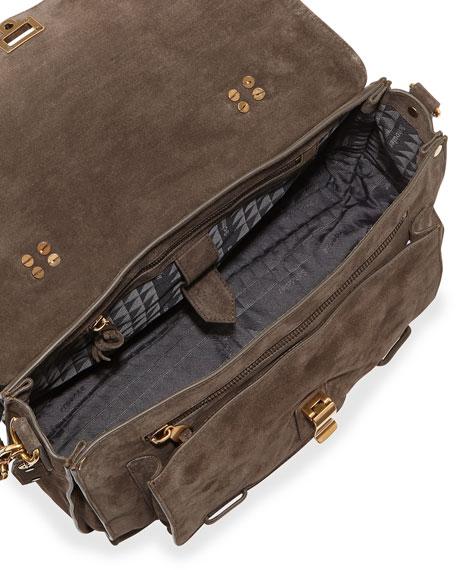 PS1 Medium Suede Mailbag, Gray