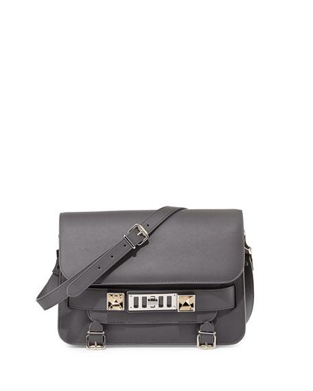 PS11 Classic Calfskin Shoulder Bag, Gray