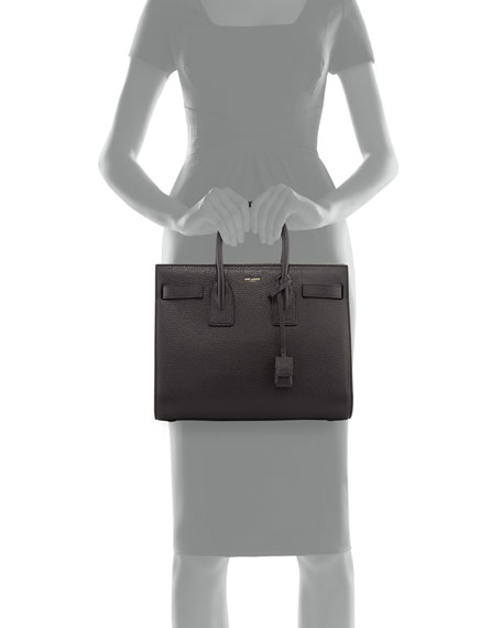 b3107c78c6 Sac de Jour Small Grained Leather Tote Bag Black