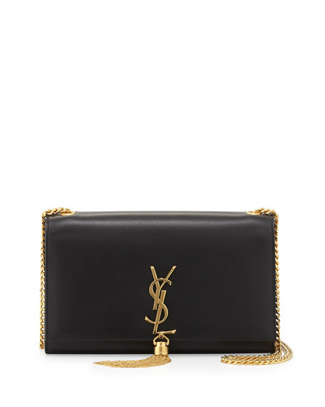 Monogram Medium Chain-Strap Tassel Bag