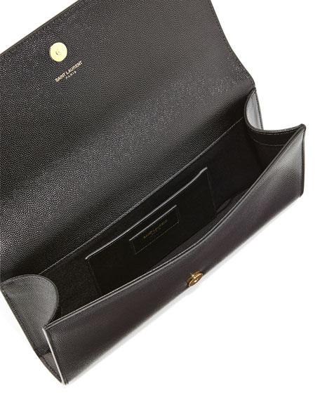Monogram Grained Calfskin Clutch Bag, Black