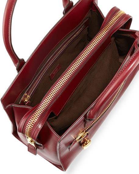 Charlotte Medium Executive Tote Bag Burgundy