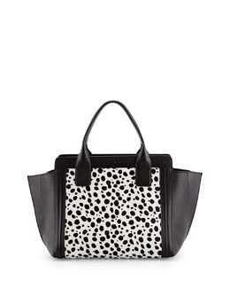 Chloe Alison Small Spotted Combo Tote Bag, Black/White