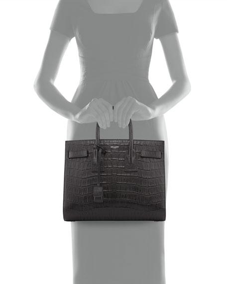 0c8bb36de5f22 Saint Laurent Sac de Jour Small Croc-Embossed Leather Tote Bag