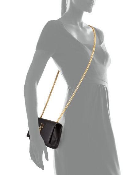 Monogram Flap Crossbody Bag, Black
