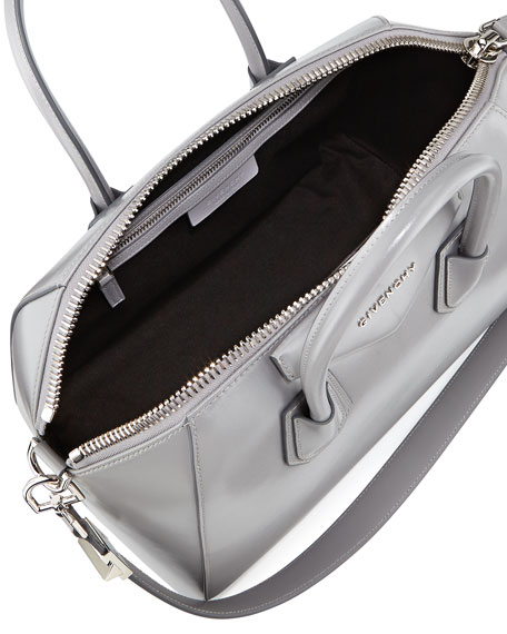 Antigona Medium Box Satchel Bag, Gray