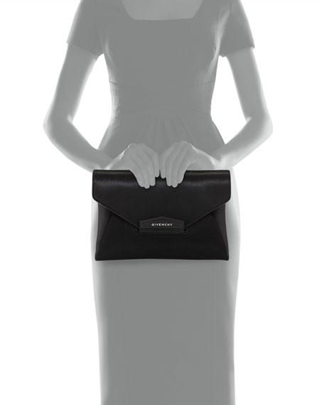Antigona Medium Calf Hair Clutch Bag, Black
