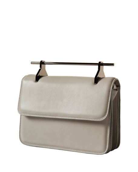 La Fleur Du Mal Leather Bag, Light Gray