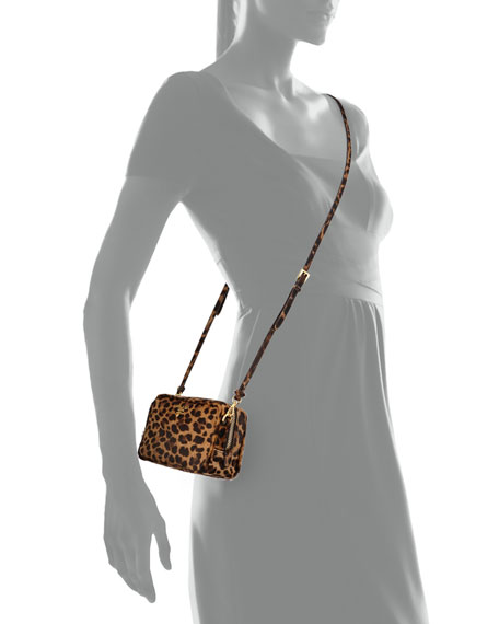 411b9f191238 Prada Leopard-Print Calf Hair Mini Crossbody Bag