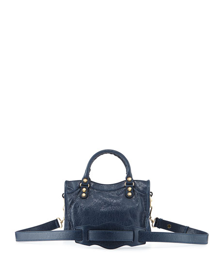 Giant 12 City Mini Lambskin Tote Bag, Navy