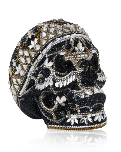 Crystal Skull Clutch Bag