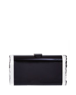 Kate Matte Acrylic Ice Clutch Bag, Black