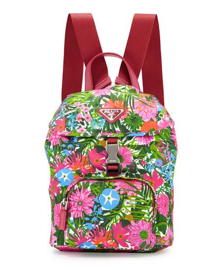 prada nylon backpack small
