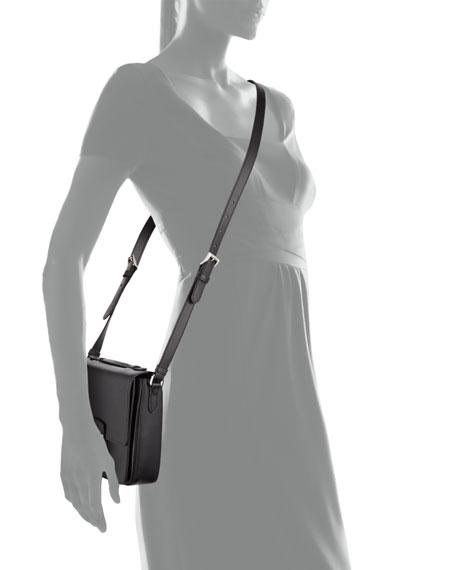 Prada Saffiano Small Sound Crossbody Bag, Black (Nero)