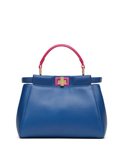 Peekaboo Mini Bicolor Napa Satchel Bag