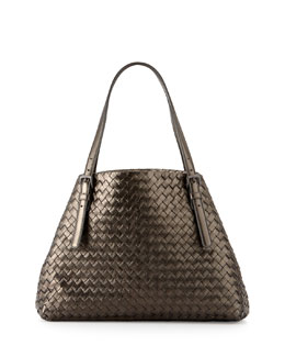 Medium A-Shaped Tote Bag, Gunmetal