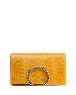 Gabrielle Python Clutch Bag