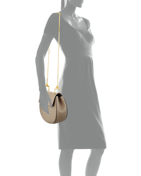 Drew Small Shoulder Bag, Gray