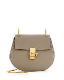 Drew Small Shoulder Bag, Gray