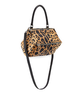 Pandora Small Leopard-Print Satchel Bag