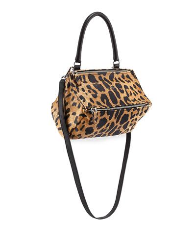 Pandora Small Leopard-Print Satchel Bag