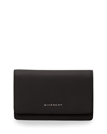 Givenchy Pandora Leather Wallet, Black