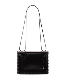 Soleil Mini Chain Shoulder Bag, Black