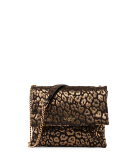 Animal-Print Sugar Sheepskin Shoulder Bag