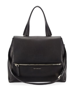 Pandora Medium Waxy Calf Bag, Black
