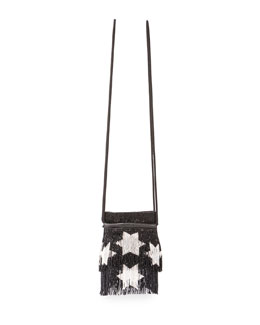Monogramme Star-Beaded Fringe Crossbody Bag