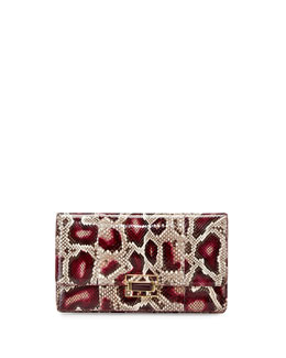 Python Envelope Clutch Bag
