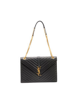 Monogramme Matelasse Shoulder Bag, Black
