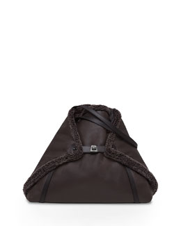 Ai Medium Shearling Fur Tote Bag