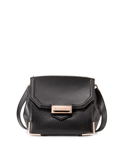 Marion Skeletal Crossbody Bag, Black