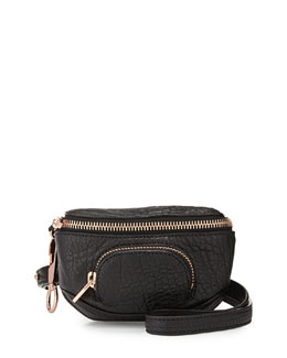 Dumbo Pebbled Leather Belt Bag, Black