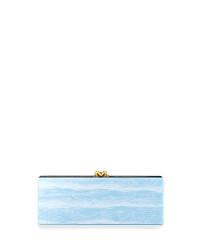 Flavia Tricolor Acrylic Clutch Bag, Purple