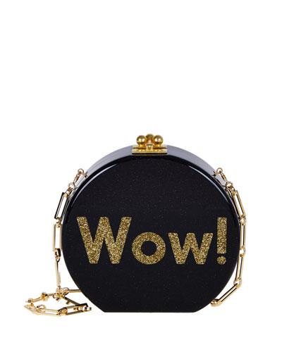 Oscar Wow! Circle Clutch Bag, Obsidian Multi