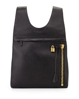 Alix Calfskin Small Backpack, Black