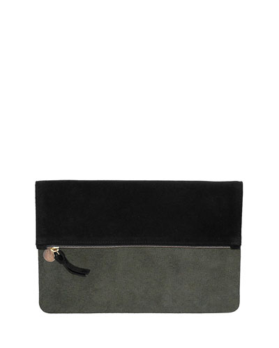 Core Maison Fold-Over Clutch Bag, Olive