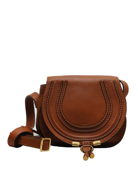 Marcie Mini Leather Saddle Bag