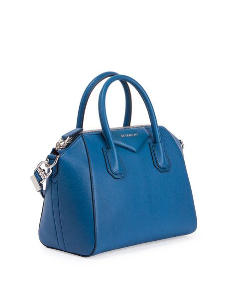 975cd147445cf Givenchy Antigona Small Sugar Goatskin Satchel Bag, Electric Blue