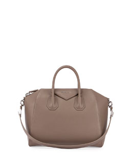 Antigona Medium Sugar Satchel Bag, Sand