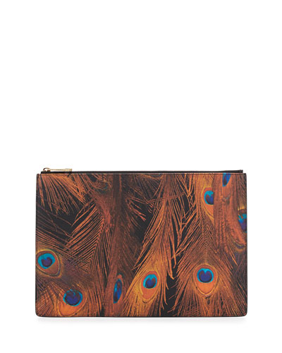 Iconic Prints Faux-Leather Large Pouch Bag, Multi