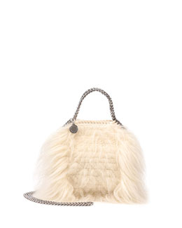 Falabella Tiny Faux-Fur Tote Bag