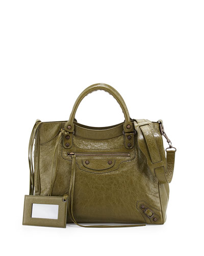 Classic Velo Lambskin Crossbody Bag, Olive