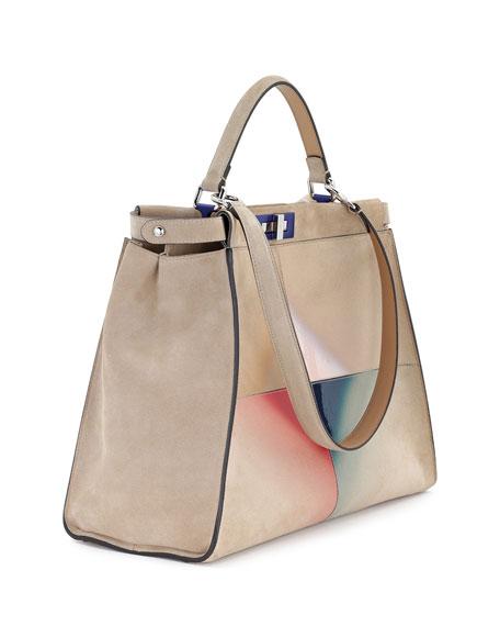 Peekaboo Large Airbrushed Suede Satchel Bag