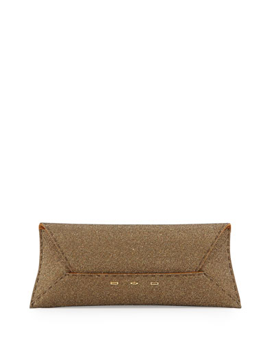 Manila Sparkle Stretch Clutch Bag, Golden