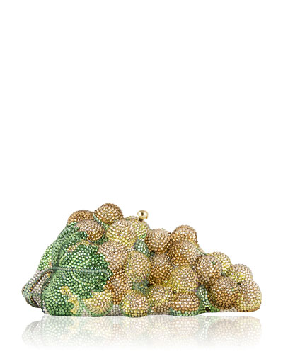 Grape Cluster Crystal Clutch Bag