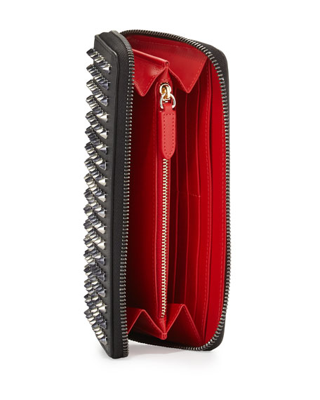 499bb76a549 Christian Louboutin Panettone Spike Stud Continental Wallet, Anthracite