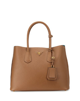 Saffiano Cuir Medium Double Bag